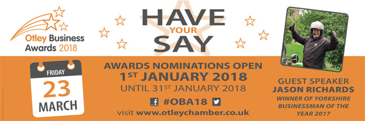 Have your say on the Otley Business Awards - Click here