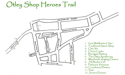 Otley Shop Heroes Map
